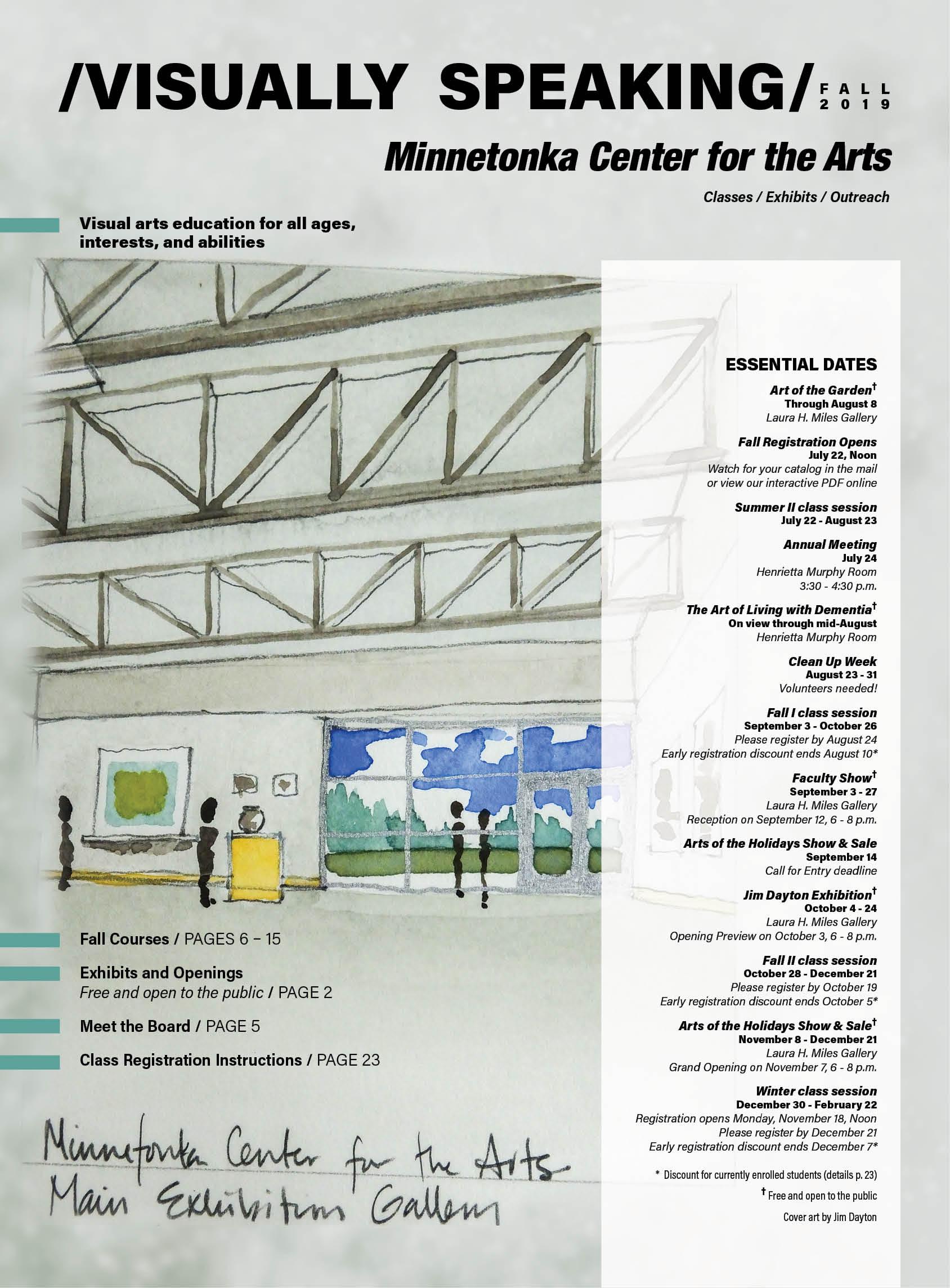 Class Catalogs   Minnetonka Center for the Arts