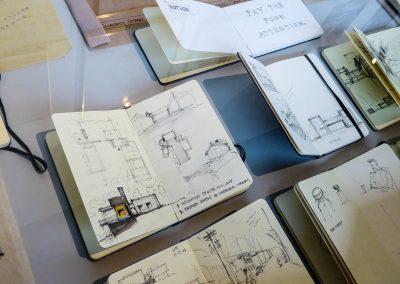 Sampling of sketchbooks