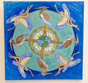 Heron Mandala by Jennifer Kunin